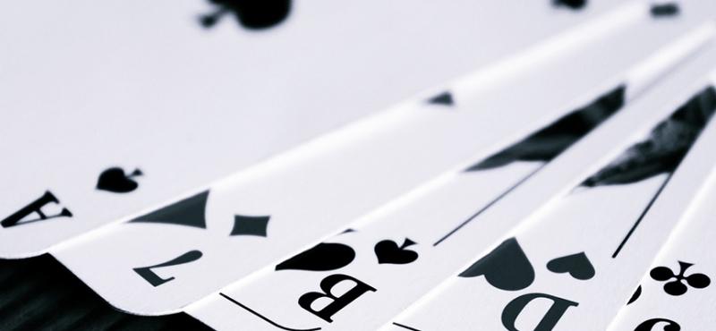 Spillekort i en vifte